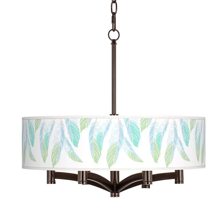 Light as a Feather Ava 6-Light Bronze Pendant Chandelier