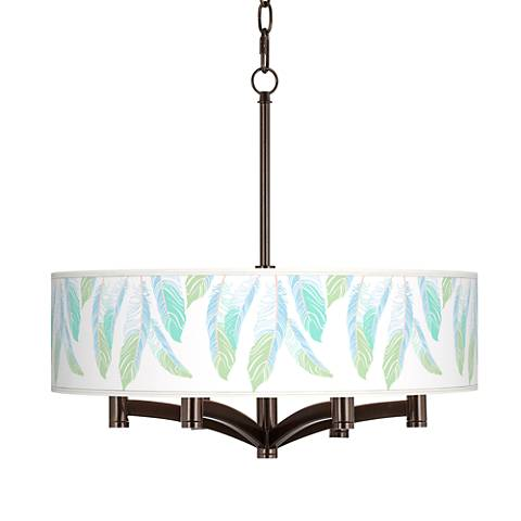 Light as a Feather Ava 6-Light Bronze Pendant Chandelier