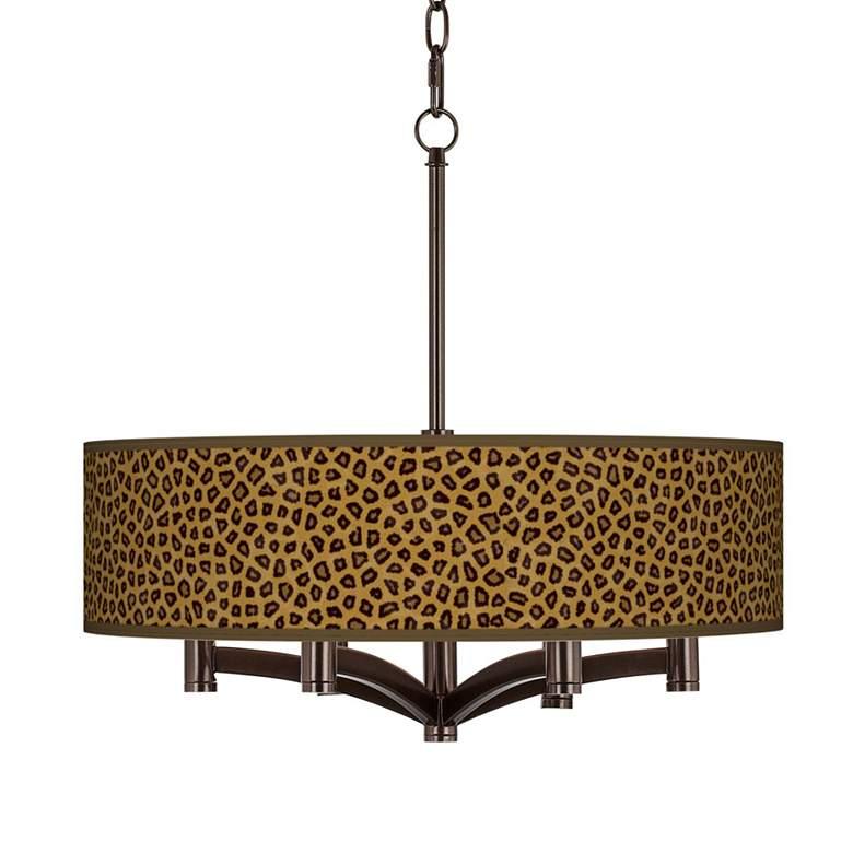 Safari Cheetah Ava 6-Light Bronze Pendant Chandelier