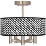 Waves Ava 5-Light Nickel Ceiling Light