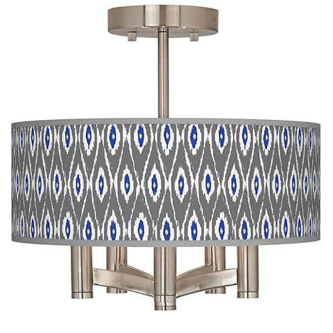 American Ikat Ava 5-Light Nickel Ceiling Light