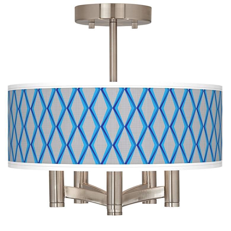 Bleu Matrix Ava 5-Light Nickel Ceiling Light