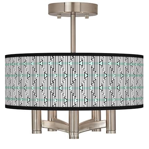 Indigenous Ava 5-Light Nickel Ceiling Light