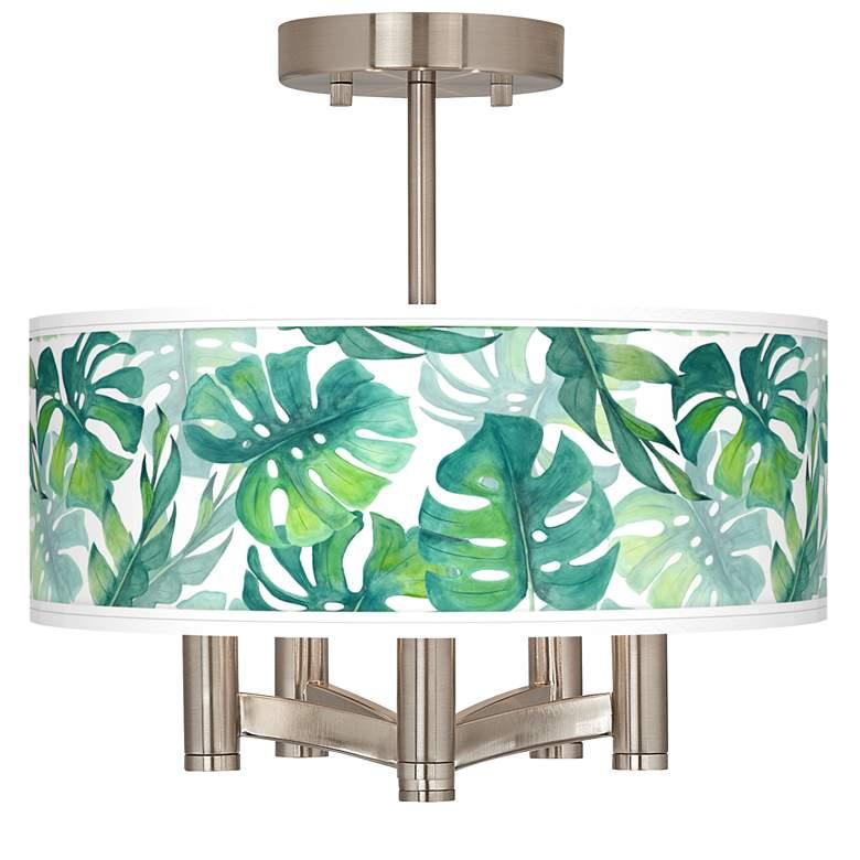 Tropica Ava 5-Light Nickel Ceiling Light