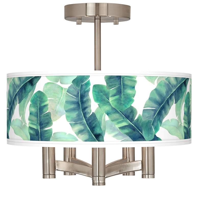 Guinea Ava 5-Light Nickel Ceiling Light