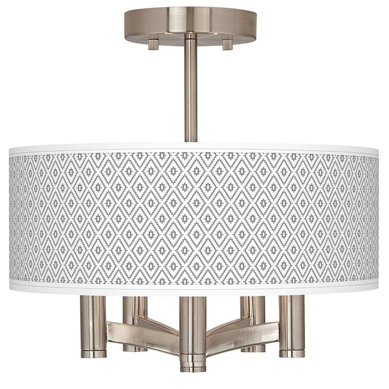 Diamonds Ava 5-Light Nickel Ceiling Light