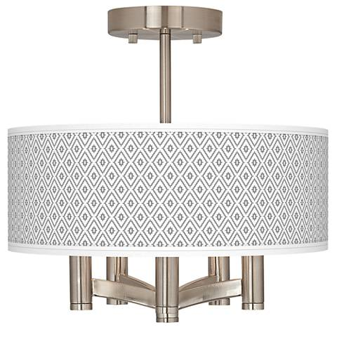 Diamonds Ava 5-Light Nickel Ceiling Light