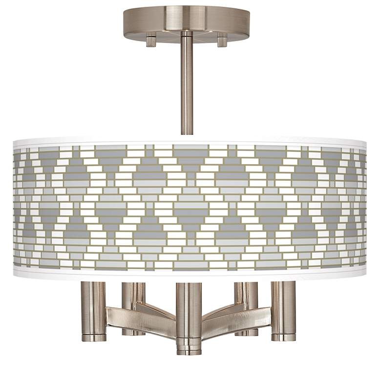 Stepping Out Ava 5-Light Nickel Ceiling Light