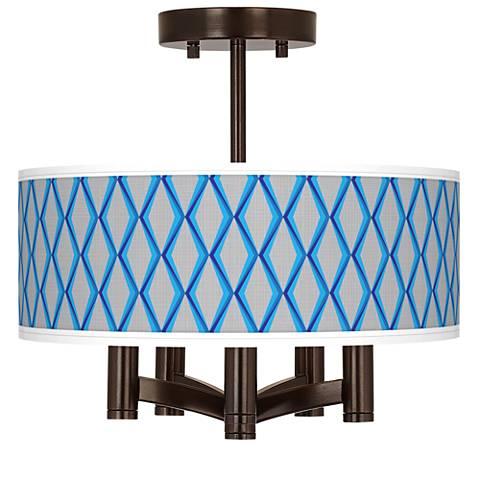 Bleu Matrix Ava 5-Light Bronze Ceiling Light