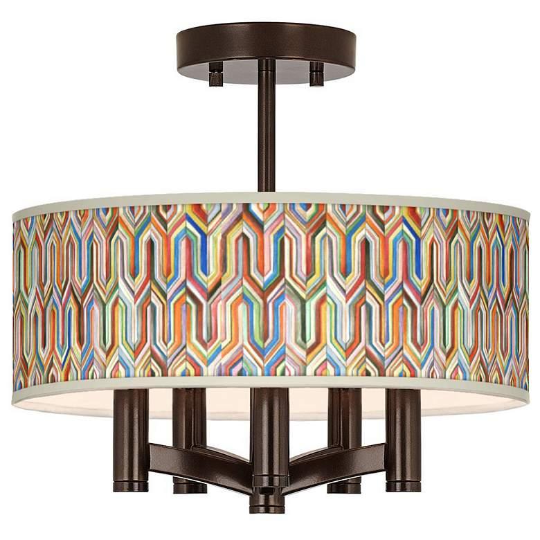 Synthesis Ava 5-Light Bronze Ceiling Light