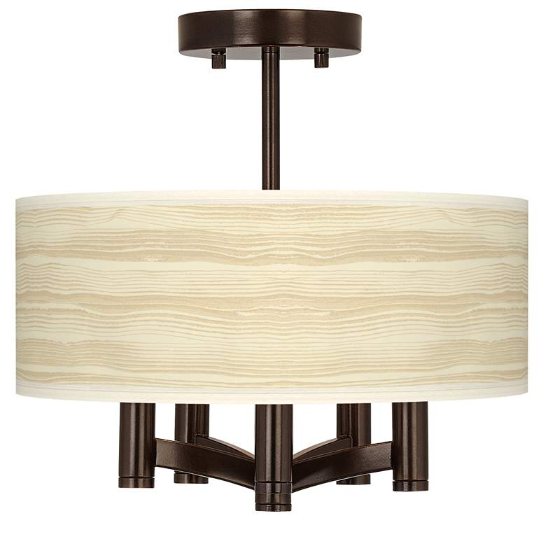 Birch Blonde Ava 5-Light Bronze Ceiling Light