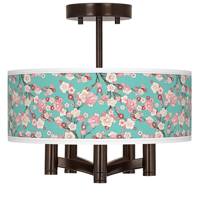 Cherry Blossoms Ava 5-Light Bronze Ceiling Light