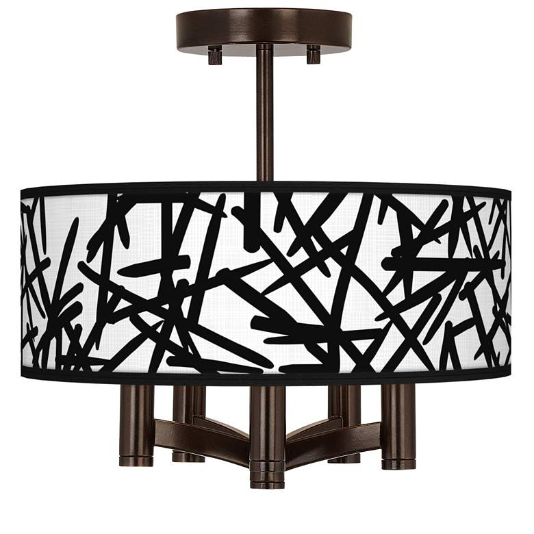 Sketchy Ava 5-Light Bronze Ceiling Light