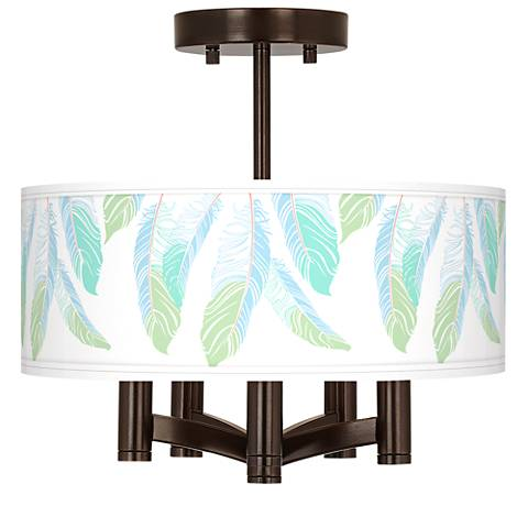 Light as a Feather Ava 5-Light Bronze Ceiling Light