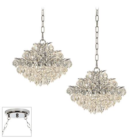 Essa Chrome 2-Light Swag Chandelier