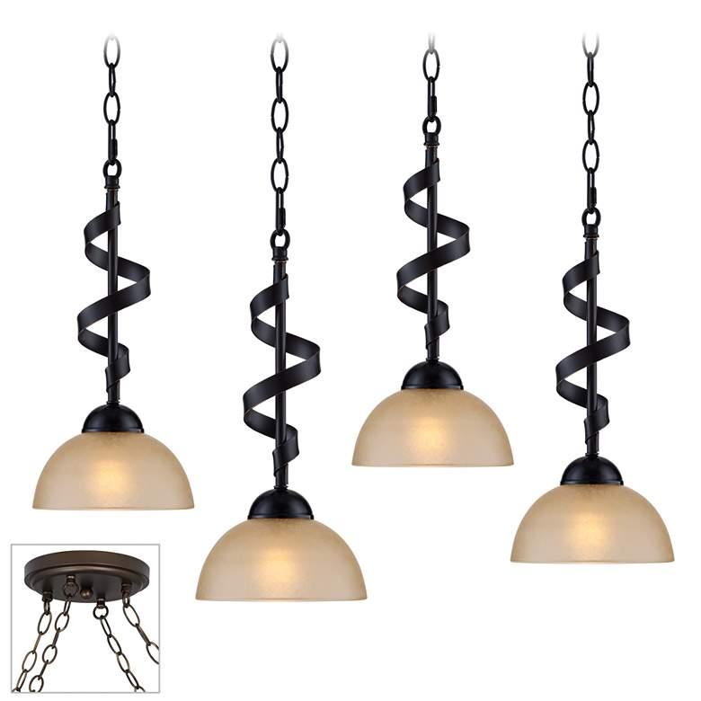 Bronzeador Bronze 4-Light Multi Light Pendant