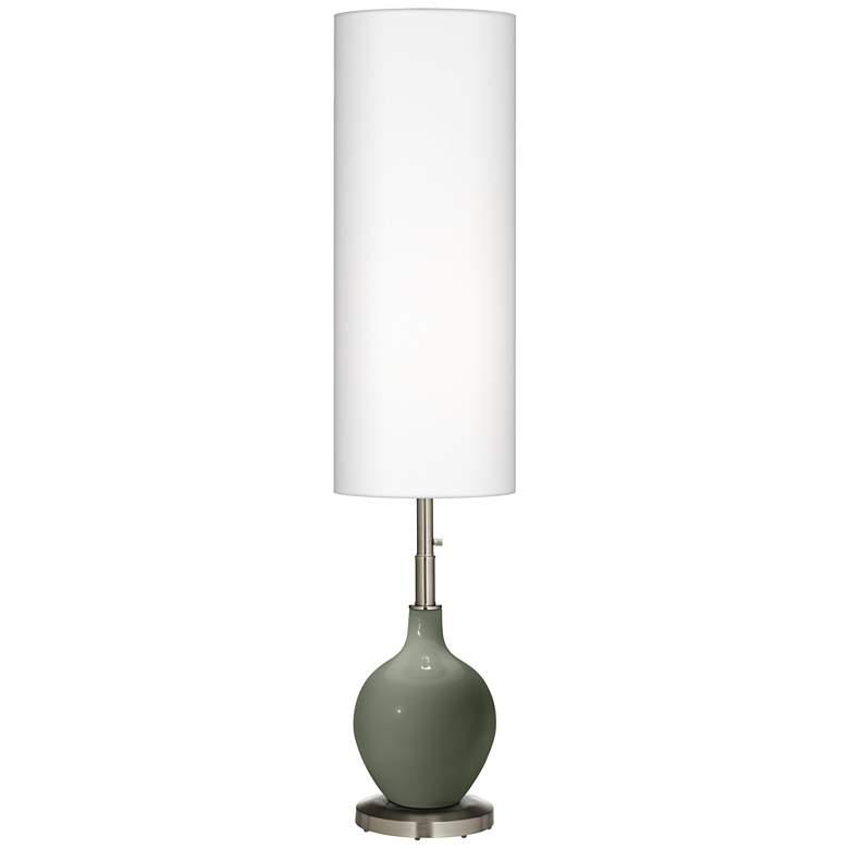 Deep Lichen Green Ovo Floor Lamp