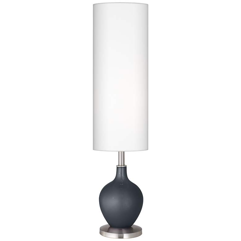 Gunmetal Metallic Ovo Floor Lamp