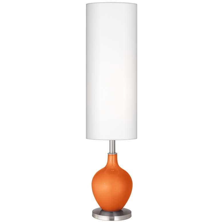 Burnt Orange Metallic Ovo Floor Lamp