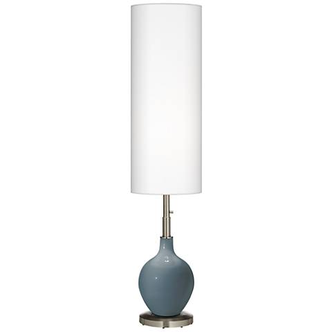 Smoky Blue Ovo Floor Lamp