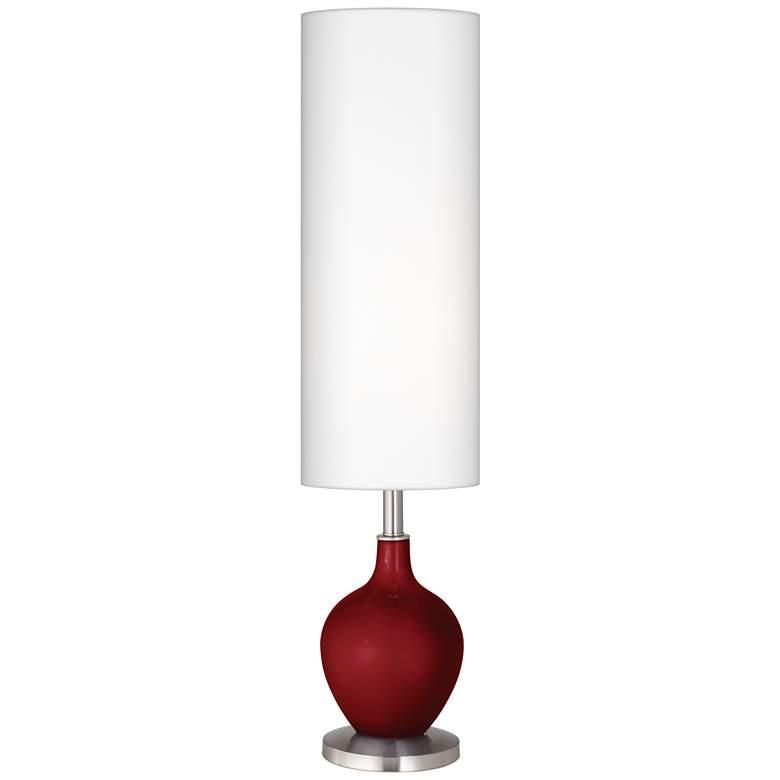 Cabernet Red Metallic Ovo Floor Lamp