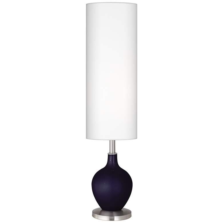 Midnight Blue Metallic Ovo Floor Lamp