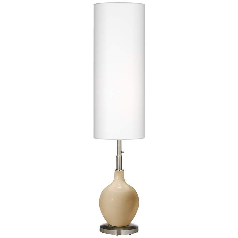 Colonial Tan Ovo Floor Lamp