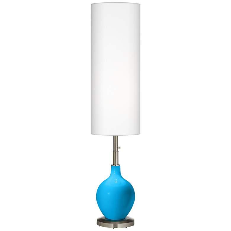 Sky Blue Ovo Floor Lamp