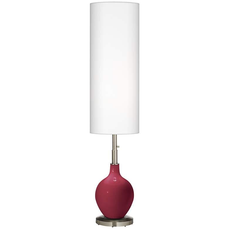 Antique Red Ovo Floor Lamp