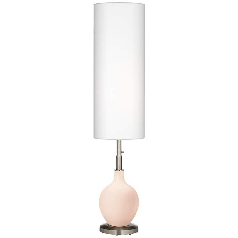 Linen Ovo Floor Lamp