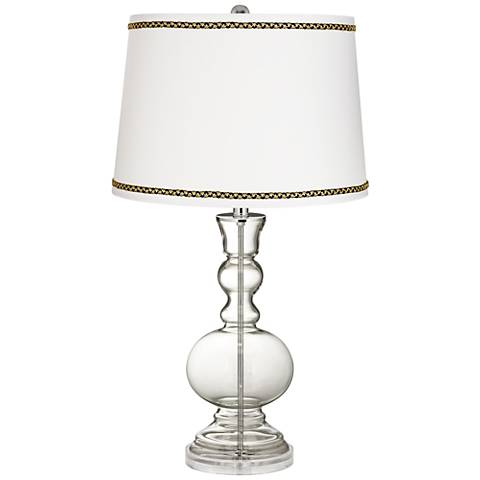 Clear Fillable Apothecary Table Lamp with Ric-Rac Trim