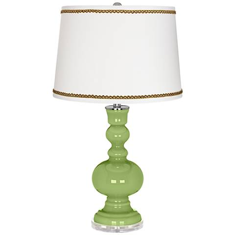 Lime Rickey Apothecary Table Lamp with Twist Scroll Trim