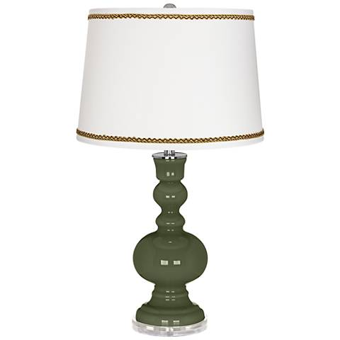 Secret Garden Apothecary Table Lamp with Twist Scroll Trim