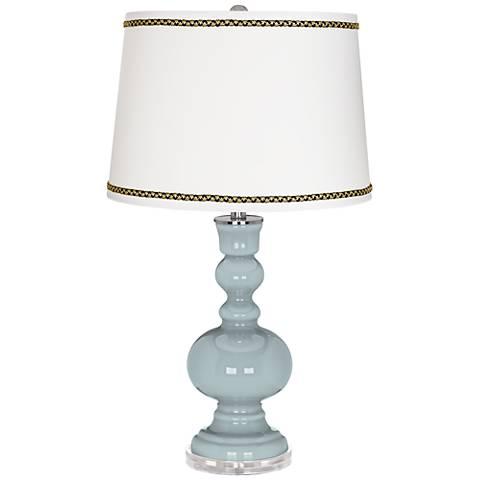 Rain Apothecary Table Lamp with Ric-Rac Trim