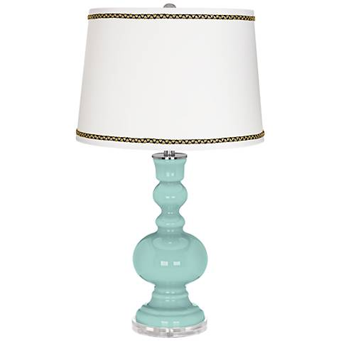 Cay Apothecary Table Lamp with Ric-Rac Trim