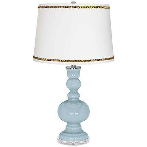 Vast Sky Apothecary Table Lamp with Twist Scroll Trim