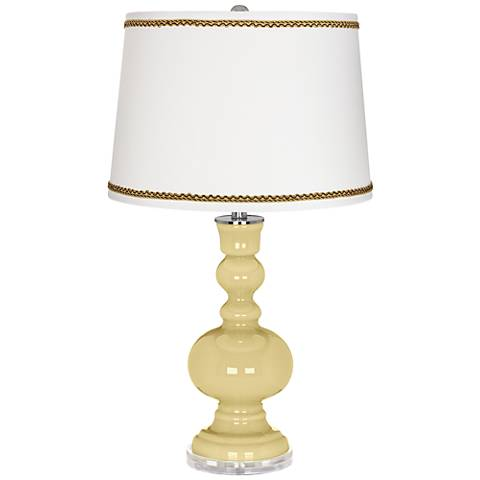 Butter Up Apothecary Table Lamp with Twist Scroll Trim
