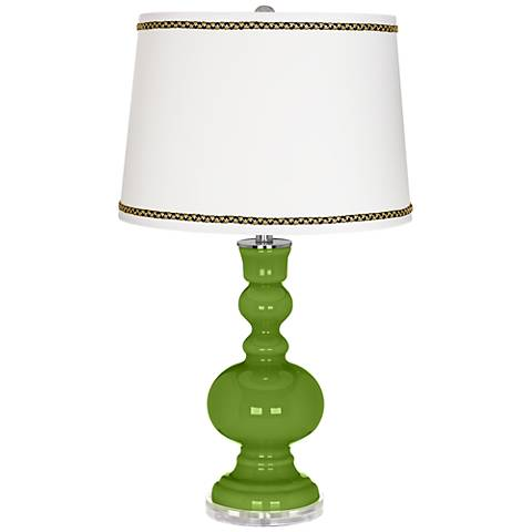 Gecko Apothecary Table Lamp with Ric-Rac Trim