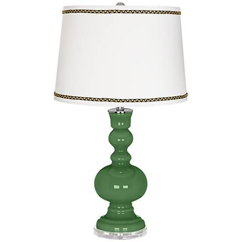 Garden Grove Apothecary Table Lamp with Ric-Rac Trim