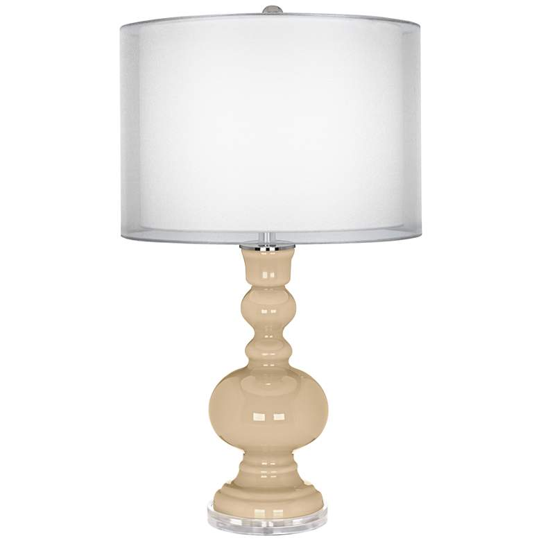 Colonial Tan Sheer Double Shade Apothecary Table Lamp