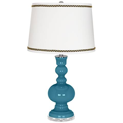 Great Falls Apothecary Table Lamp with Ric-Rac Trim