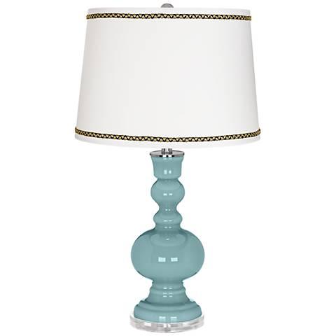 Raindrop Apothecary Table Lamp with Ric-Rac Trim