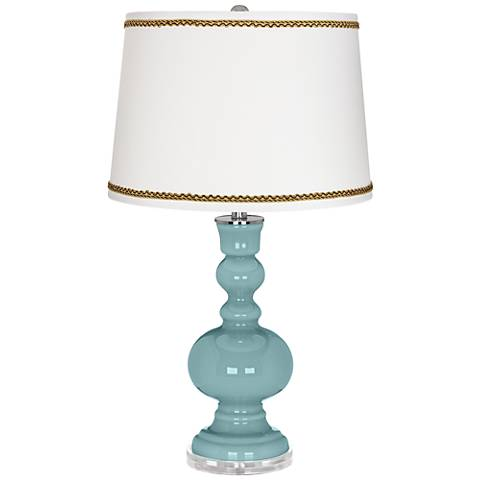 Raindrop Apothecary Table Lamp with Twist Scroll Trim