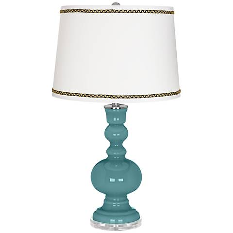 Reflecting Pool Apothecary Table Lamp with Ric-Rac Trim