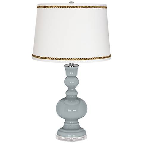 Uncertain Gray Apothecary Table Lamp with Twist Scroll Trim