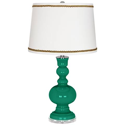 Leaf Apothecary Table Lamp with Twist Scroll Trim