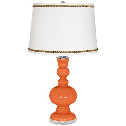Nectarine Apothecary Table Lamp with Twist Scroll Trim