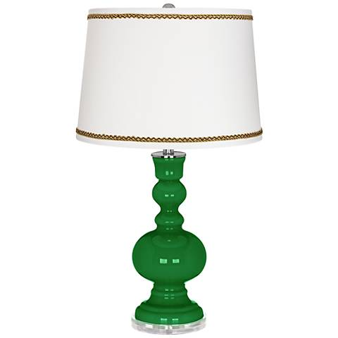 Envy Apothecary Table Lamp with Twist Scroll Trim