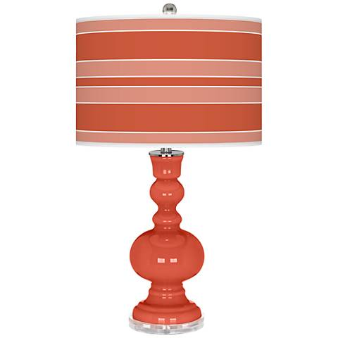 Koi Bold Stripe Apothecary Table Lamp by Color Plus