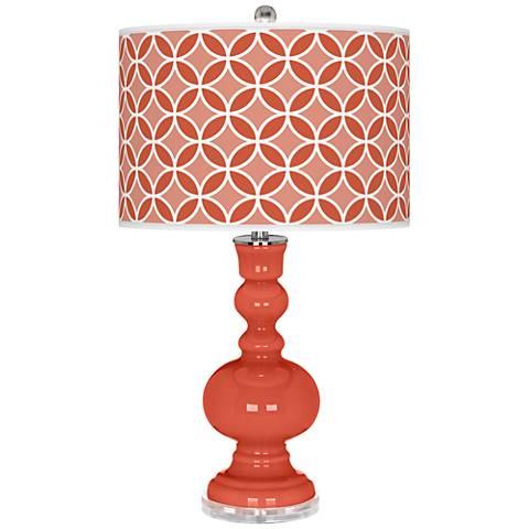 Koi Circle Rings Apothecary Table Lamp